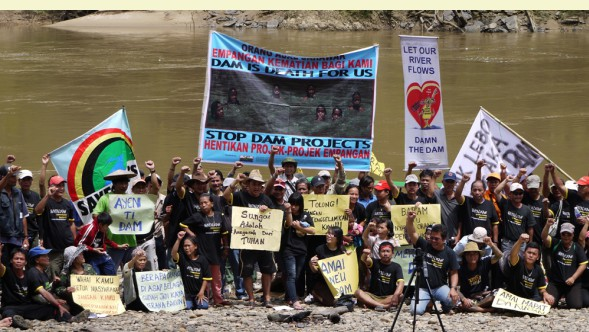 150 people protest at proposed Baram dam site