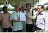 Natives hand over petition against Baram dam to Sarawak's Chief Minister